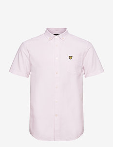 Short Sleeve Light Weight Slub Oxford Shirt - chemises oxford use default - stonewash pink/ white