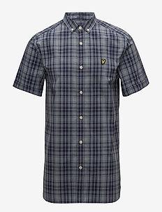 SS Check Shirt - MIST BLUE