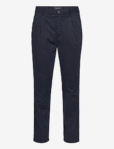 Front Pleat Trouser - rennot - dark navy