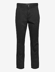 Front Pleat Trouser - casual - jet black