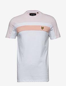 Colour Block T-Shirt - WHITE