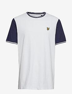 Tipped T-Shirt - WHITE/NAVY