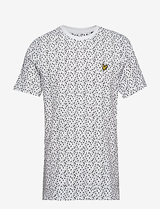 Print T-Shirt - WHITE MICRO TILE PRINT