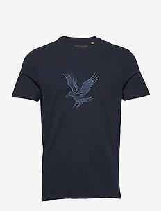 Embroidered Eagle Tshirt - kurzärmelig - dark navy
