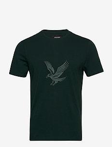 Embroidered Eagle Tshirt - kurzärmelig - jade green