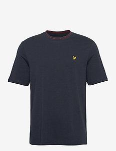 Branded Ringer Tshirt - basic t-shirts - dark navy