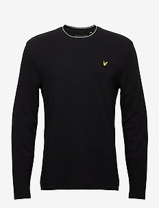 Waffle Long Sleeve T-shirt - basic t-shirts - jet black