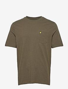Relaxed Pocket T-shirt - podstawowe koszulki - trek green