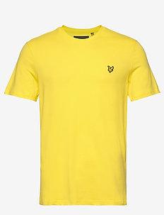 Crew Neck T-Shirt - korte mouwen - buttercup yellow