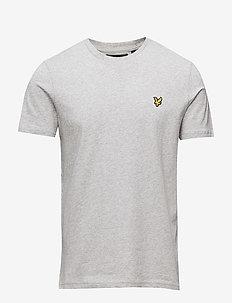 Crew Neck T-Shirt - LIGHT GREY MARL