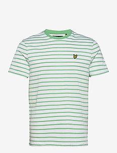 Breton Stripe T-shirt - korte mouwen - sea mint/ white