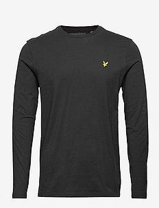 LS Crew Neck T-shirt - langermede t-skjorter - jet black