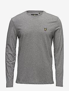 LS Crew Neck T-shirt - MID GREY MARL