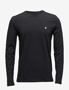 LS Crew Neck T-shirt - TRUE BLACK