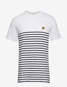 Breton Stripe T-Shirt - WHITE/NAVY