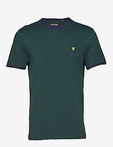 Ringer T-Shirt - basis-t-skjorter - jade green/ navy