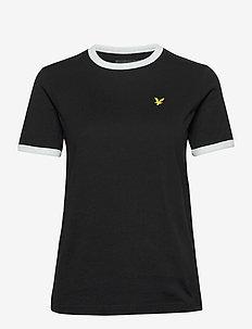 Ringer T-shirt - t-shirts - jet black