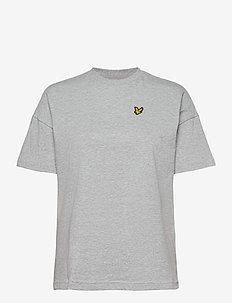 Oversized T-shirt - t-shirts - light grey marl