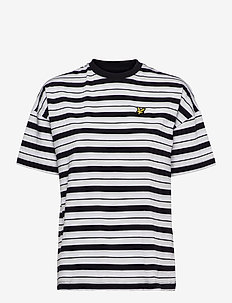 Stripe T-shirt - t-shirts - jet black
