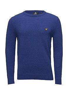 Crew Neck Lambswool Blend Jumper - DUKE BLUE