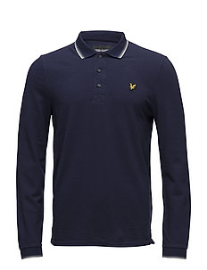 LS Tipped Polo Shirt - NAVY