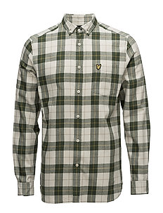 Check Flannel Shirt - LEAF GREEN