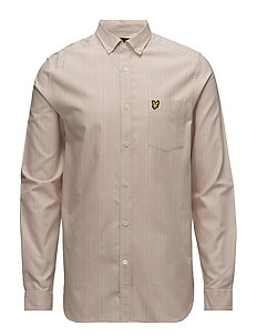 LS Deckchair Stripe Shirt - DUSTY PINK