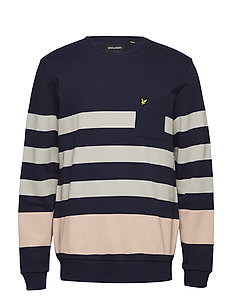 Stripe Sweatshirt - NAVY
