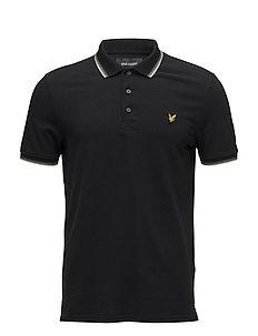 Tipped Polo Shirt - TRUE BLACK