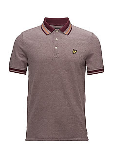 Oxford Tipped Polo Shirt - CLARET JUG