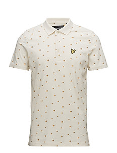 Beachball Print Polo Shirt - SEASHELL WHITE