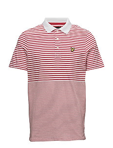 Stripe Polo Shirt - POPPY