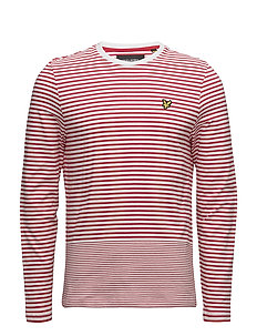 LS Stripe T Shirt - POPPY