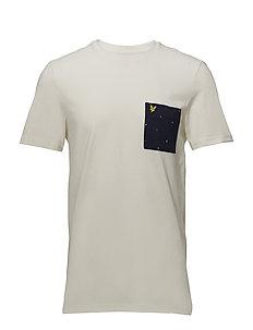 Micro Print Pocket T-Shirt - SEASHELL WHITE