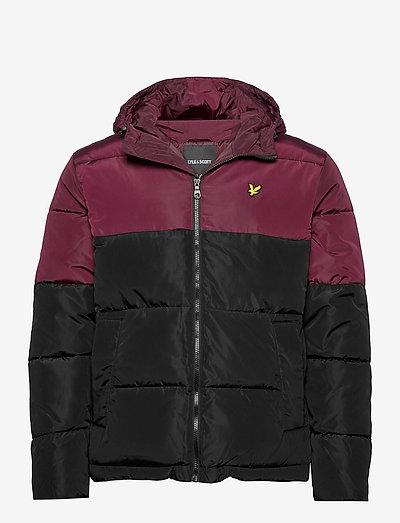 Colourblock Puffer Jacket - kurtki puchowe - jet black/ burgundy