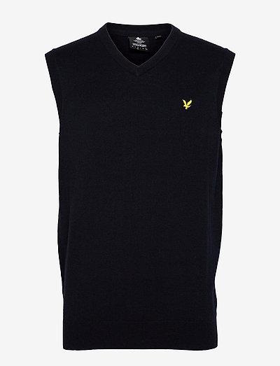 Cotton Merino Vest - västar - dark navy