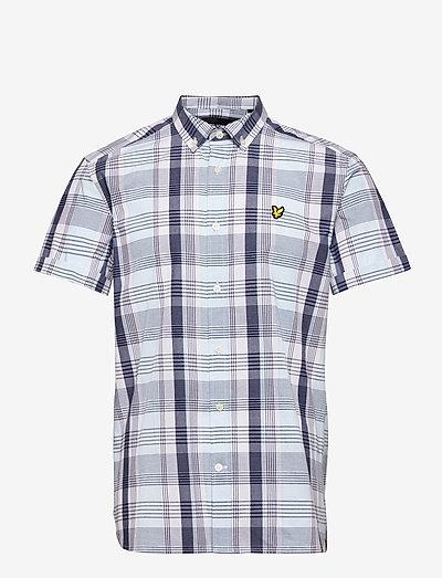 SS Checked Shirt - rutiga skjortor - deck blue