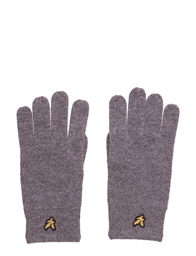 Racked rib gloves - MID GREY MARL