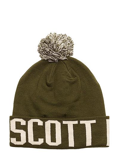 Knit Wording Hat - WOODLAND GREEN