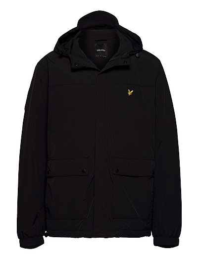 Hooded Pocket Jacket Dünne Jacke Schwarz LYLE & SCOTT
