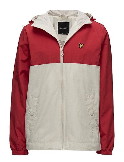 Colour Block Jacket - TOMATO RED
