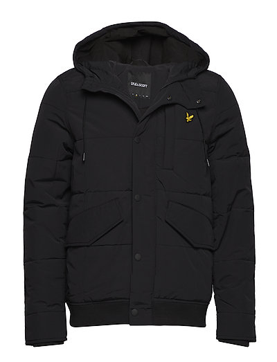 Wadded Hooded Bomber - TRUE BLACK