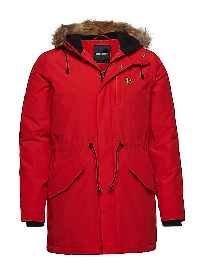 Winter Weight Microfleece Lined Parka Parka Jacke Rot LYLE & SCOTT