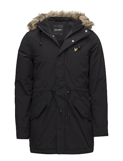 Winter Weight Microfleece Lined Parka Parka Jacke Schwarz LYLE & SCOTT