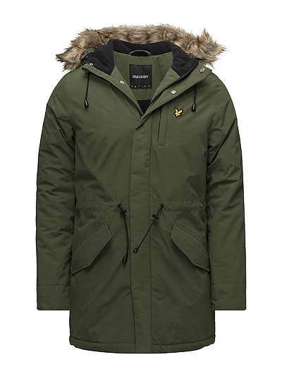 Winter Weight Microfleece Lined Parka Parka Jacke Grün LYLE & SCOTT