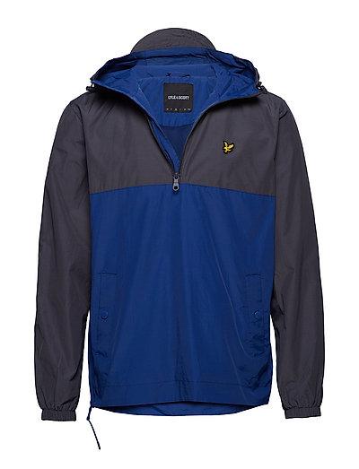 Colour Block 1/4 Zip Jacket Outerwear Jackets Anoraks Blau LYLE & SCOTT