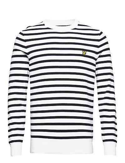 Breton Stripe Jumper Strickpullover Rundhals Weiß LYLE & SCOTT