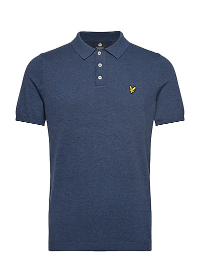 Ss Knitted Polo Polos Short-sleeved Blau LYLE & SCOTT