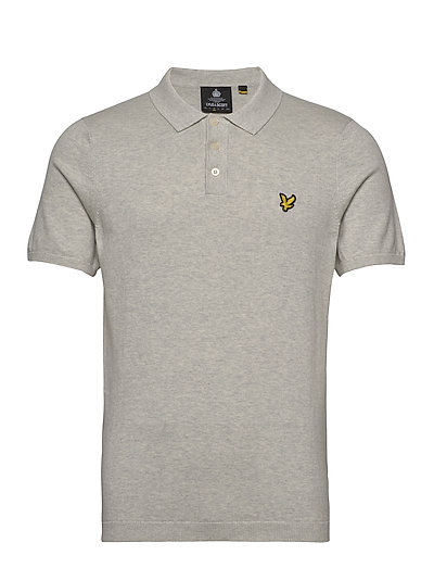 Ss Knitted Polo Polos Short-sleeved Grau LYLE & SCOTT