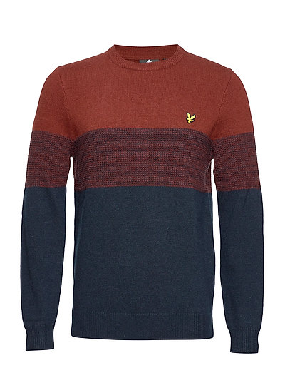 Chest Panel Knitted Jumper Strickpullover Rundhals Blau LYLE & SCOTT